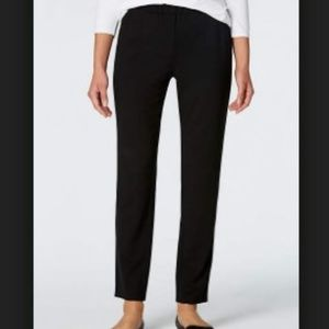 J Jill Wearever M Black Pull On Relaxed Ankle Pant